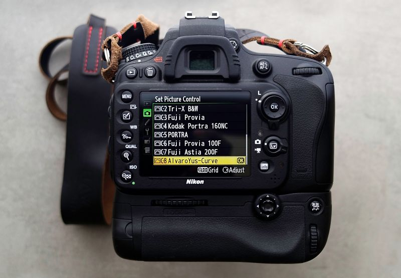 Настройка стилей изображения в камере Nikon