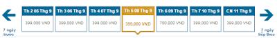 Giá vé máy bay đi Buôn Mê Thuột tháng 9 hãng Vietnam Airlines chiều đi