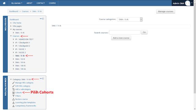 Mendaftarkan Peserta/Enroll Users Moodle Melalui Cohorts