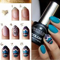 Manicure hybrydowy Cosmetics Zone 027 Cavansyt + wiosenne zdobienie