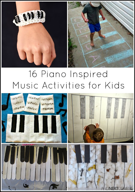 Music activities for kids inspired by pianos