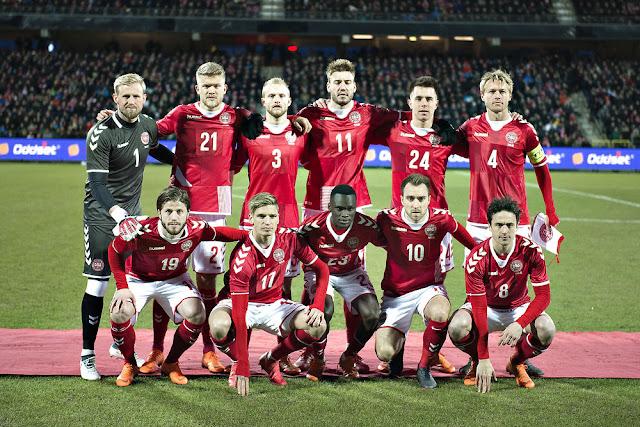 Formación de Dinamarca ante Chile, amistoso disputado el 27 de marzo de 2018