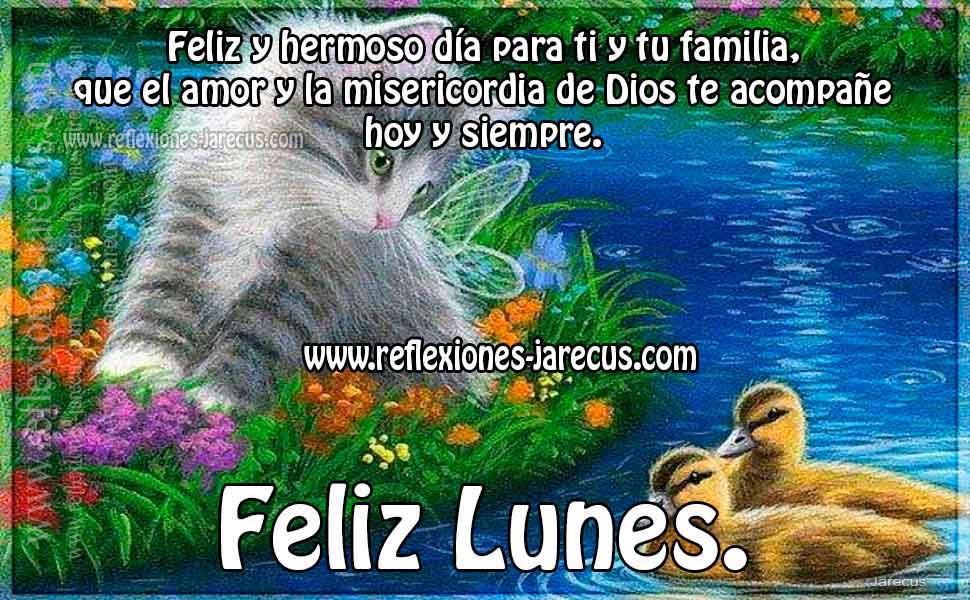 Feliz y hermoso día para ti y tu familia, que el amor y la misericordia de Dios te acompañe hoy y siempre. Feliz lunes.