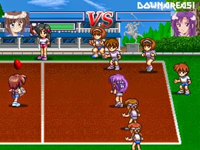 XS Junior League Dodgeball PSX Game Screenshot XS Junior League Dodgeball PS1 ISO