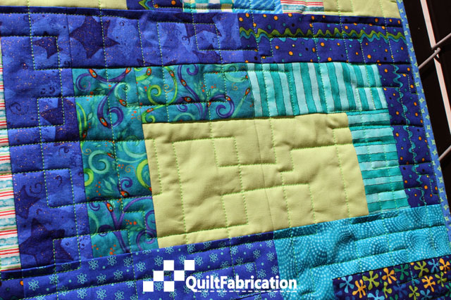 smaller Open Sesame quilting closeup