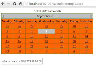 How to use Calendar Control in ASP.NET