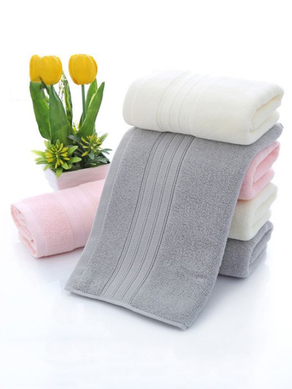 Cotton Absorbent Fast Drying Solid Color Towels