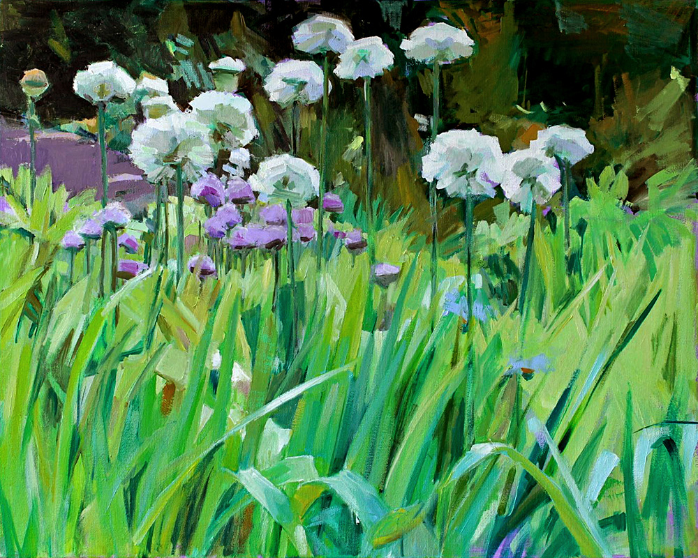 Gretchen Hancocks Paintings White Allium