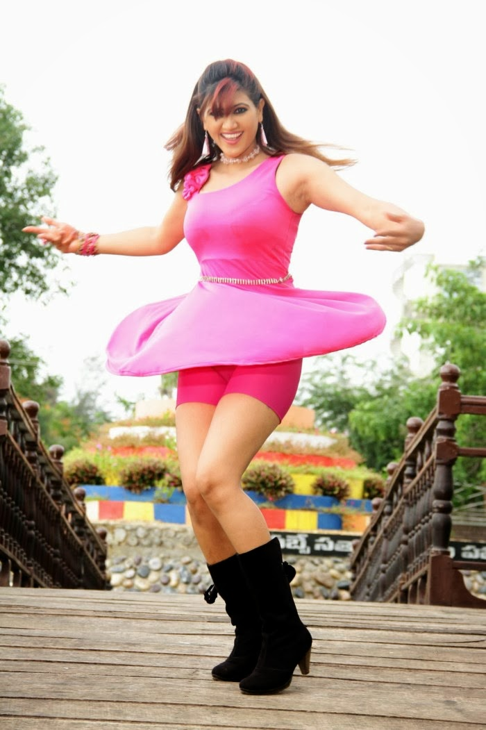 Rishika hot in pink dress, Rishika hot images