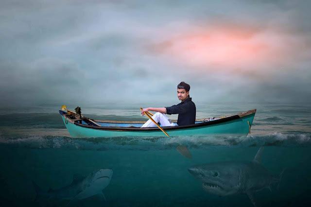 Amazing Boat Riding Photo Manipulation Picsart Tutorial