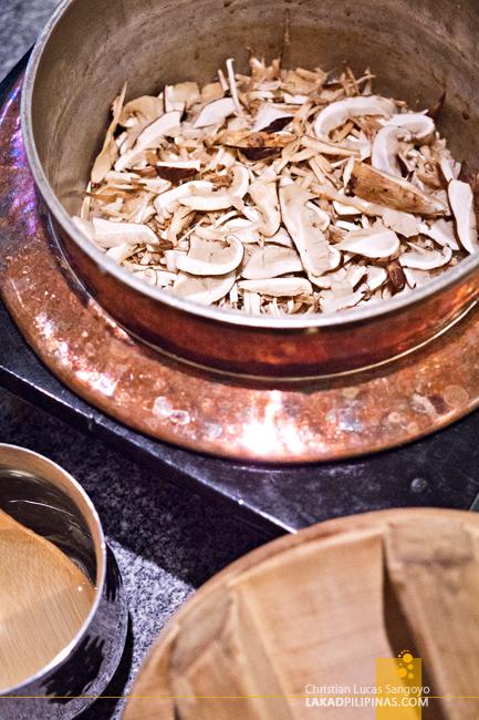 Shunbou Restaurant Grand Hyatt Tokyo Mushroom Rice