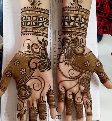 Brown Indian Henna Designs