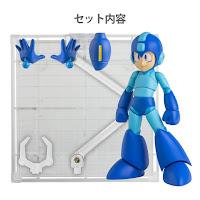 """Mega Man versione """"classica"""" con i suoi accessori."""