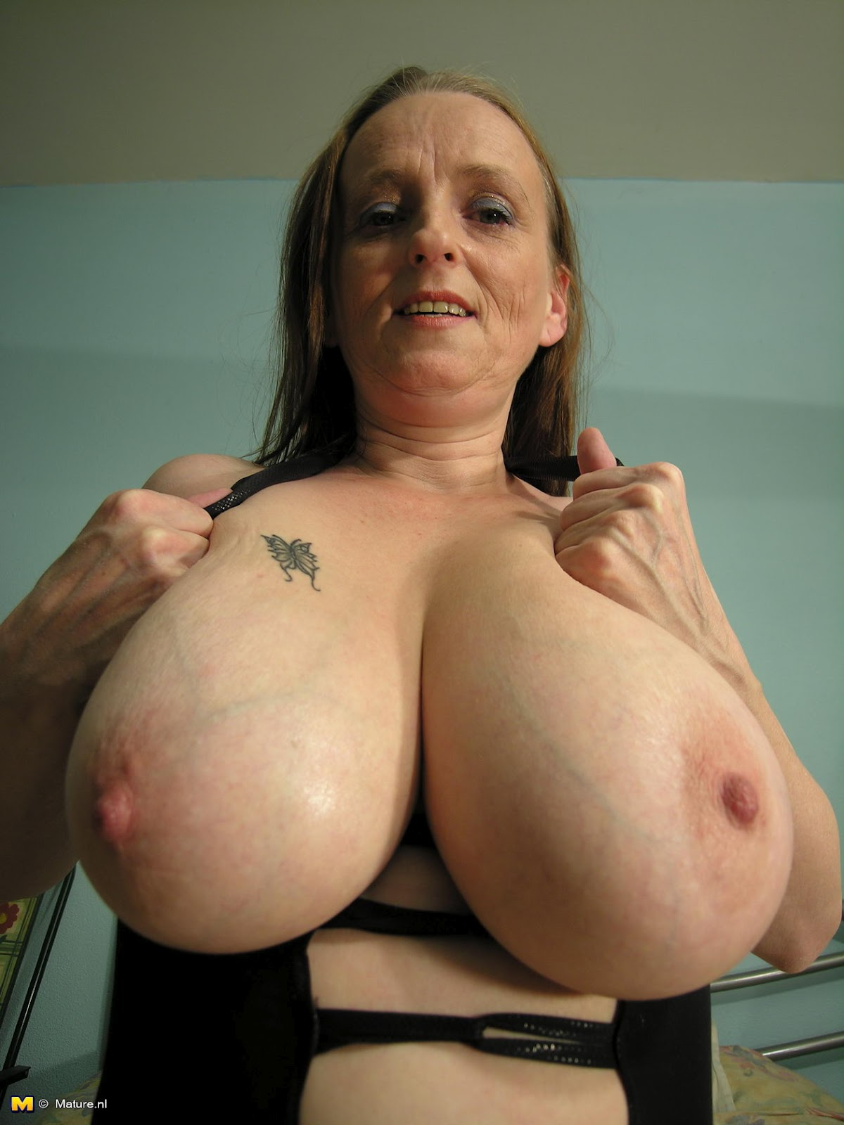 With tits natural mature big
