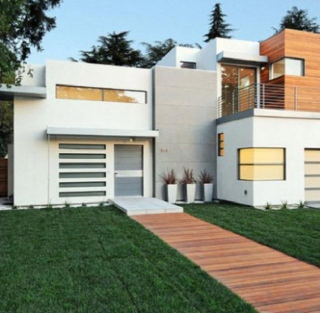 Colores para fachadas de casas modernas fachadas de for Frentes de casas minimalistas