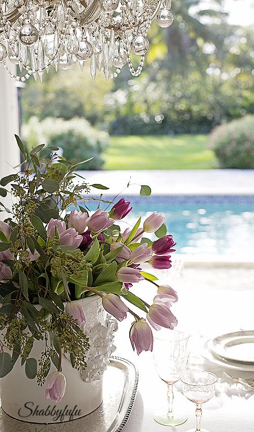 elegant spring table pool