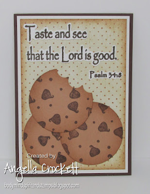 ODBD Fruit of the Spirit, Stampin Up Chocolate Chip Wheel, ATC designed by Angie Crockett