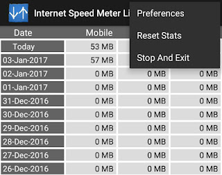 Reset data usage stats