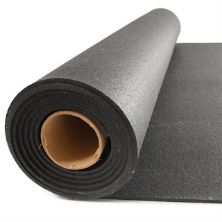 Greatmats Rolled Rubber 1/8 Inch Black Mats Budget