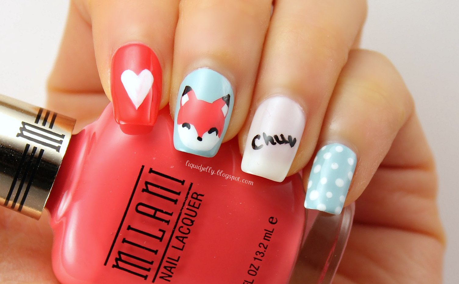 Liquid Jelly: [Nail Art] Foxy Valentine