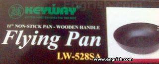 keyway non-stick wooden handle frying pan lw528sa