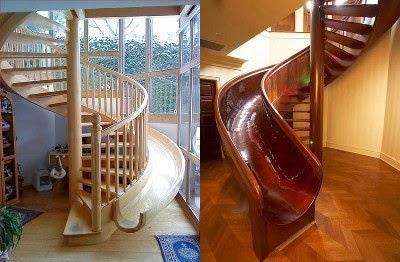 Gambar Tangga Minimalis Rumah Modern Desain Kayu dan Besi