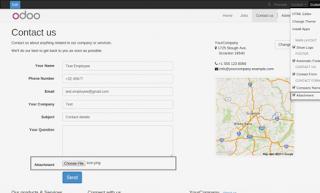 Add an attachement (file) from odoo website.