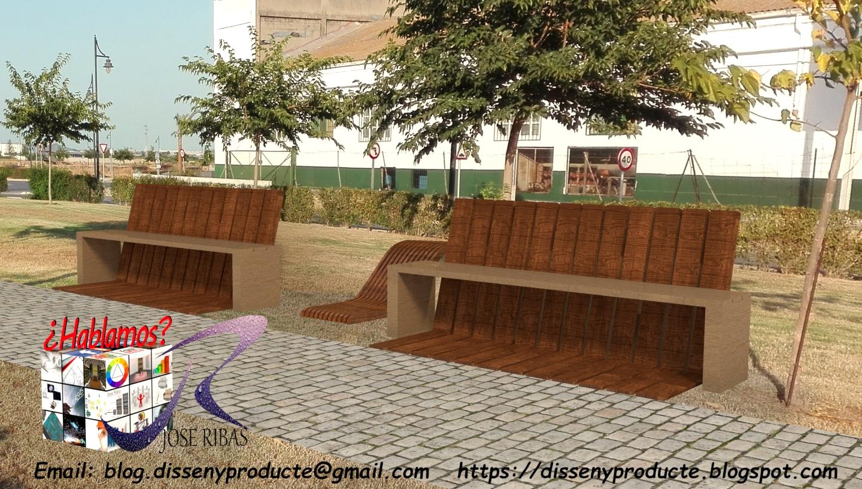 Banco de Madera : Mobiliario Urbano & Jardín. - Disseny Producte ...