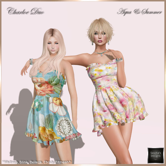 SASCHA'S DESIGNS - Charloe Duo Dresses (Mesh Bodies & Fitmesh)