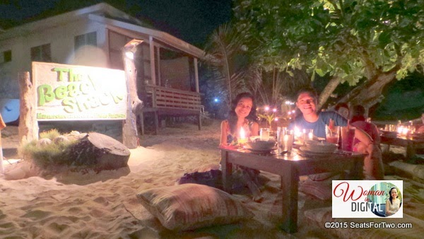 Dinner for two by the beach of Corong-Corong