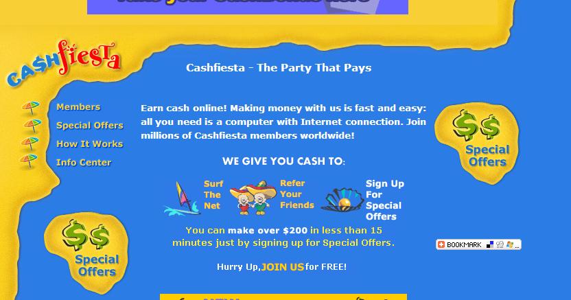 หาเงินง่ายๆแค่เปิดคอมทิ้งไว้ กับ Cash Fiesta ~ หาเงินดอทคอม