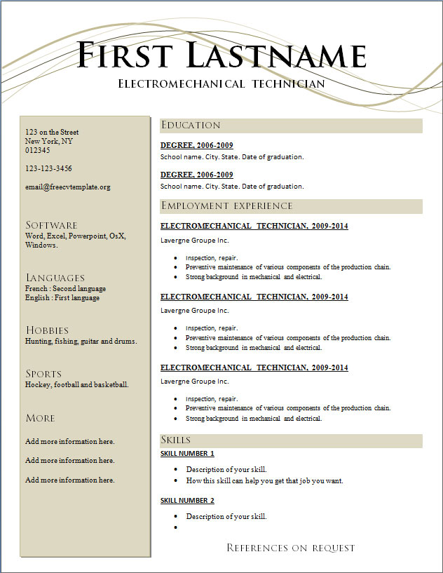 modern resume template 2017