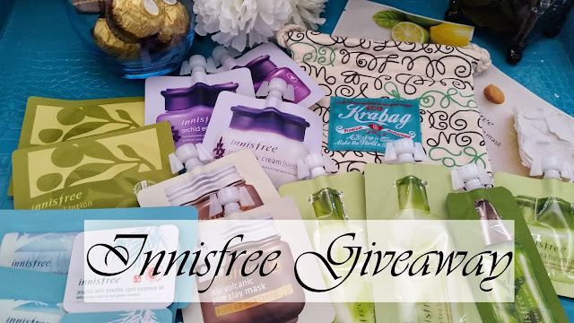 all the Innisfree giveaway goodies