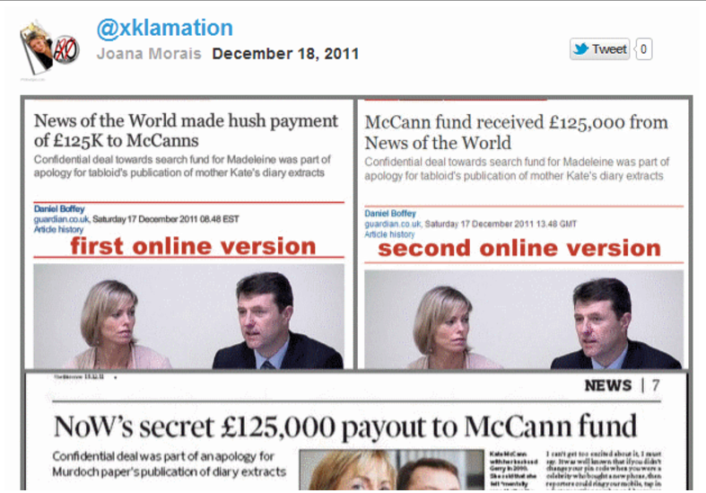 Madeleine McCann fund received £125,000 from News of the World
