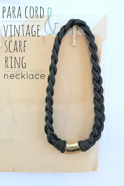 MAKE: Para Cord & Vintage Scarf Ring Necklace