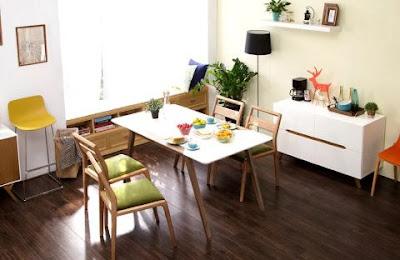 Các mẫu bàn ăn gỗ công nghiệp đẹp cho gia đình 2