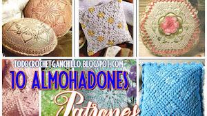 Los 10 mejores patrones de cojines grandes a crochet / Patrones