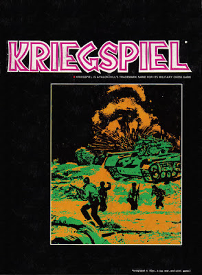 Kriegspiel, Avalon Hill Designed by Tom Shaw 1970