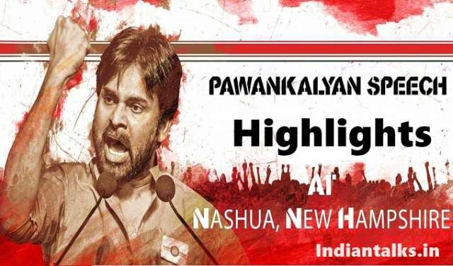 Pawan Kalyan Speech Highlights at USA Nashua