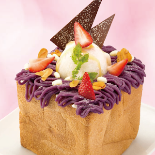 紫芋とクリームチーズのモンブランハニトー *おもちのアイスをのせて*(2017年冬)