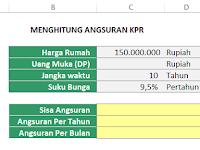 Soal Latihan Excel: Menghitung Angsuran KPR