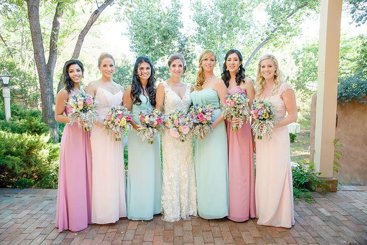 pastel color bridesmaid dress