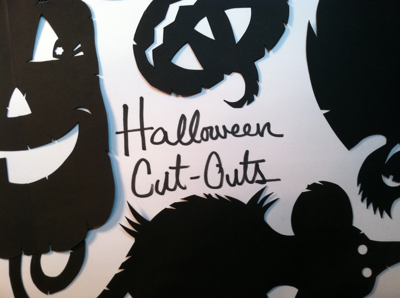 Went Sketching Halloween Cut Outs