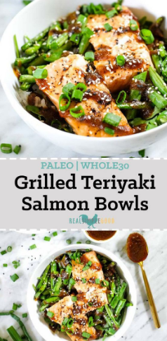 GRILLED TERIYAKI SALMON BOWLS