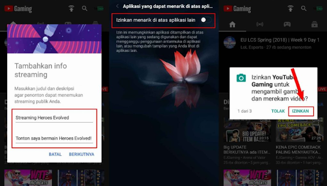 How to stream games on Youtube via Android phones