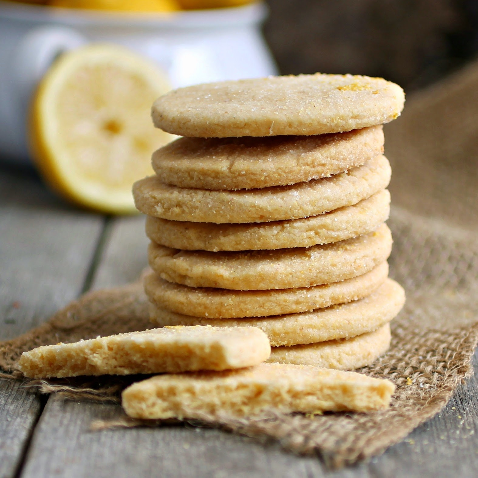 Hungry Couple Lemon Cornmeal Shortbread Cookies