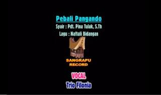Download Lagu Toraja Pebali Pangando (Trio Filonia)