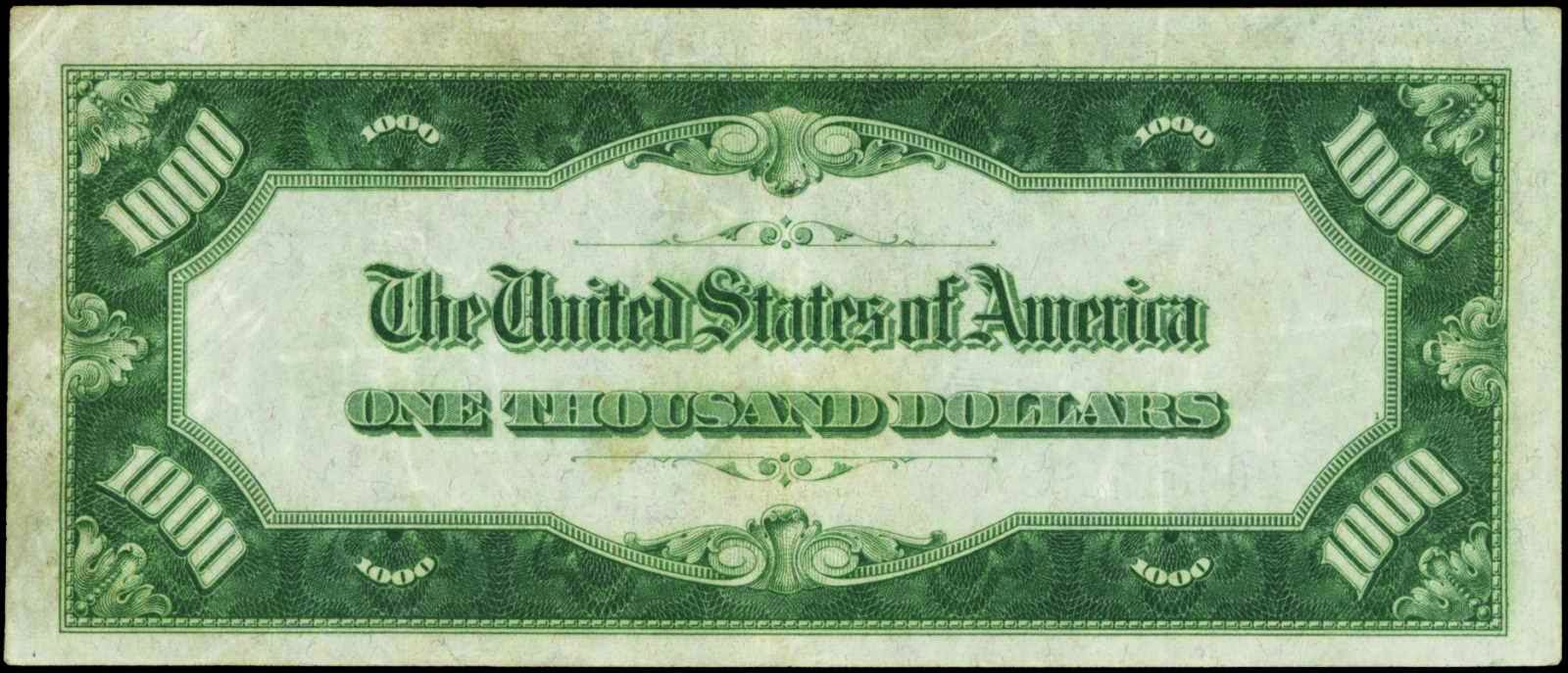 1934 Thousand Dollar Bill Federal Reserve Note