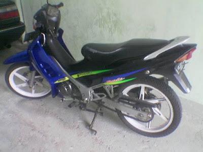 Keanehan Motor Suzuki Satria Hiu dua Tak