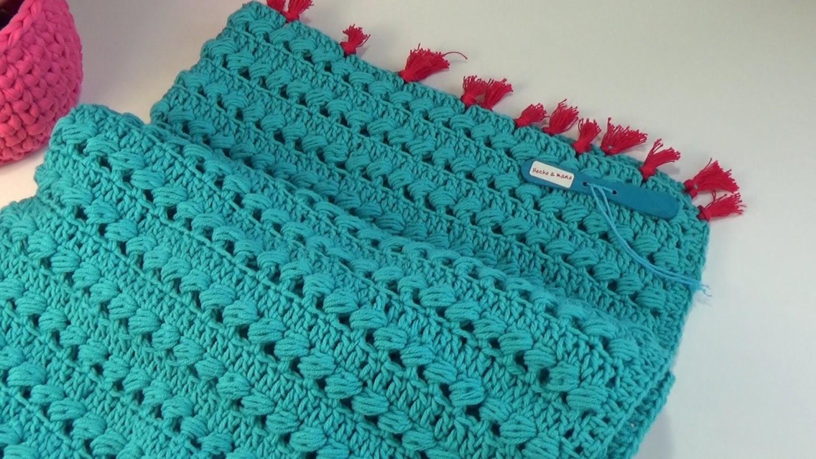 Club para mujeres practicas: Patrón de manta a ganchillo fácil para bebe